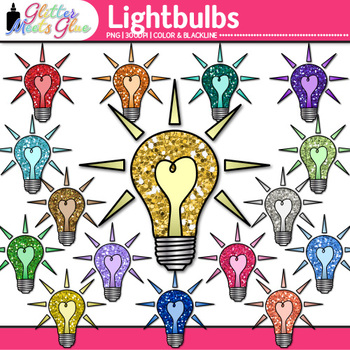 Lightbulb Clip Art {Teach Electricity, Electric Circuits, Magnetism for Science}