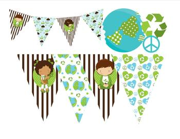 Cute Recycle, Earth Day Banner