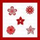 Red Flower Clip Art Clipart Spring Summer