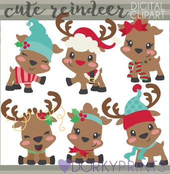 Cute Reindeer Clipart
