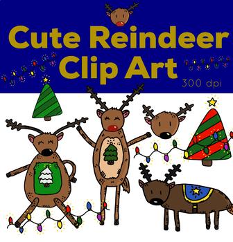 Cute Reindeer Clip Art