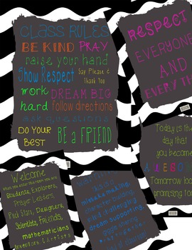 Cute Religious, Christian, Catholic Classroom Posters