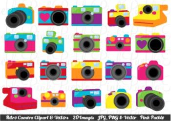 Cute Retro Camera Clip Art Clipart