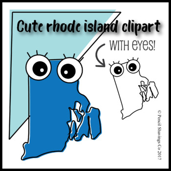 Cute Rhode Island Clipart with Eyes!