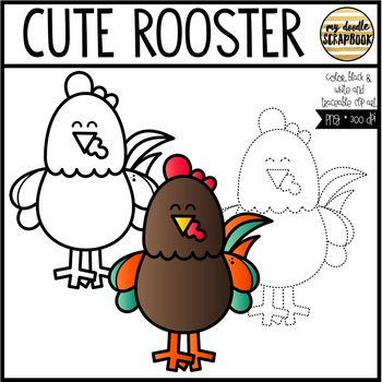 Cute Rooster Clip Art FREEBIE (Personal & Commercial Use) Chinese New Year
