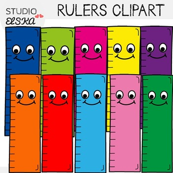 Cute Rulers Clipart Freebie By Studio Elska Teachers Pay Teachers