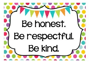 Cute Classroom Rules Posters - Inspirational