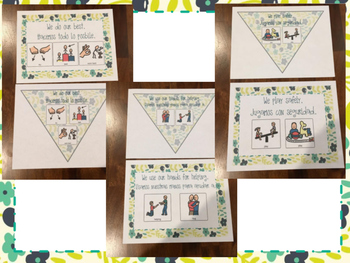 Cute Rules Posters with Visuals (in 2 different formats and Bilingual!)