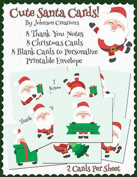 Cute Santa Cards