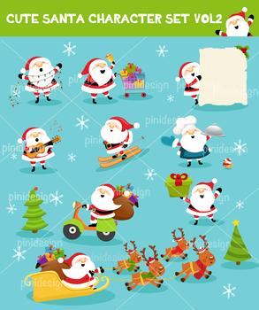 Cute Santa Character Set Vol 2
