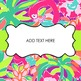 Editable Binder Covers {Lilly Pulitzer}