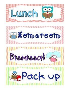 Cute Schedule Cards