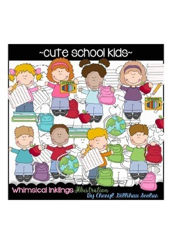 Cute School Kids Clipart Collection