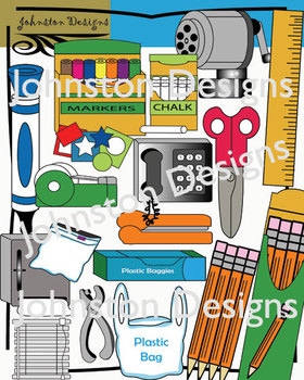 Cute School Supplies Clipart