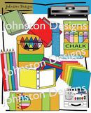 Cute School Supplies Clipart