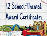 Award Certificates: School Themed