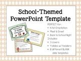 Cute School-Themed Powerpoint Template