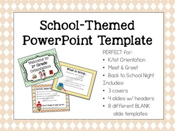 Cute School-Themed Powerpoint Template
