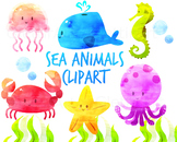 Cute Sea Animal Clip art for personal and Commercial Use
