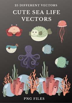 Cute Sea Life Vectors