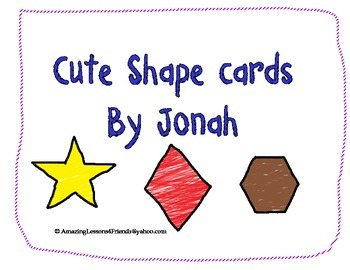 Cute Shape Cards By Jonah