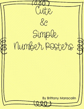 Cute & Simple Number Posters
