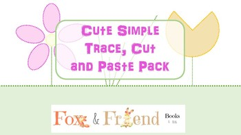 cute simple trace cut and paste pack - Simple Pictures To Trace