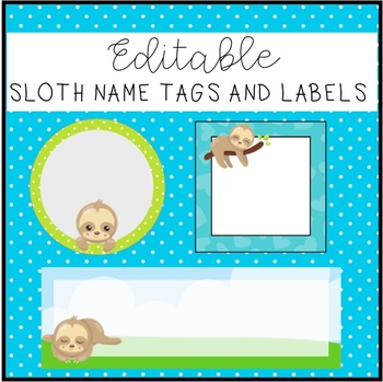 Cute Sloth labels and name tags! #ausbts19