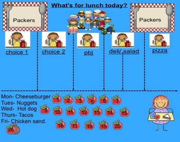 Cute Smartboard Lunch and Attendance