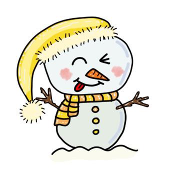 Cute Snow Men Clip Art