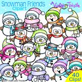 Winter Snowman Clipart Clip Art