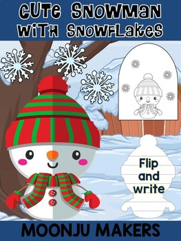 Cute Snowman with Snowflakes C - Moonju Makers Activity, Craft, Writing