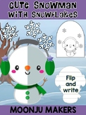 Cute Snowman with Snowflakes D - Moonju Makers Activity, Craft, Writing