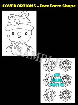 Cute Snowman with Snowflakes F - Moonju Makers Activity, Craft, Writing