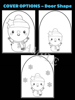 Cute Snowman with Snowflakes - Moonju Makers Activity, Craft, Writing