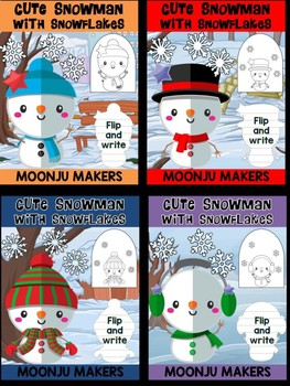 Cute Snowmen with Snowflakes - Bundle of Moonju Makers, Crafts, Decor, Winter