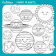 Cute Solar System Clipart, Planets Clip Art, Kawaii Planets