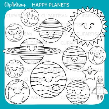 Solar System Clip Art, Planets Printable