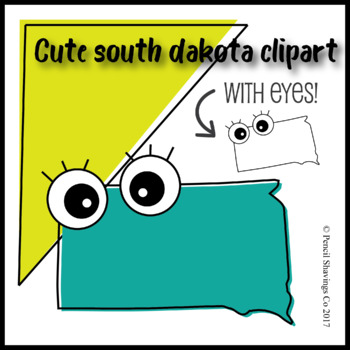 Cute South Dakota Clipart with Eyes!