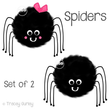 Cute Spider Clipart, halloween clip art Printable Tracey Gurley Designs