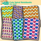 Cute Spiral Notebooks Clip Art: Back to School Graphics {G