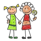 Cute Stickfigure Children Clipart Package for School Teachers