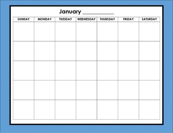 FREE Cute Student Calendar Printables - With Teaching Tips!!!