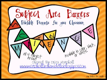 Cute Subject Area Banners!