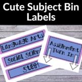 Cute Subject Labels Blue & Purple