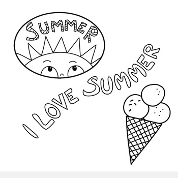 Cute Summer Clipart - Studio ELSKA