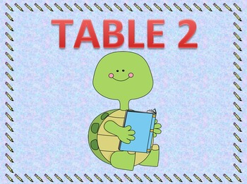 Cute Table Numbers-Reading Animals