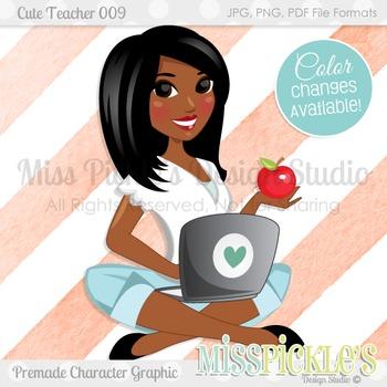 Cute Teacher 009, Teacher Avatar- Commercial Use Character Graphic