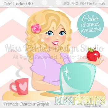 Cute Teacher 010, Teacher Avatar- Commercial Use Character Graphic