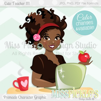 Cute Teacher 111, Teacher Avatar- Commercial Use Character Graphic